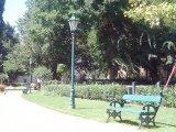 Károlyi kert kandeláber és pad