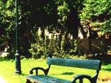 Károlyi kert kandeláber, pad