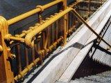 Milleniumi földalatti öntöttvas lépcsőkorlát