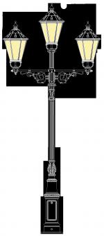 Beeskow 4.2m  kandeláber