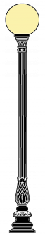 Freiberg 2.6m  kandeláber