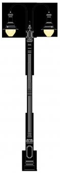 Bahnhof 3.9m  kandeláber