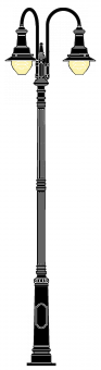 Sievesdorf 4.2m  kandeláber