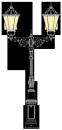 Beeskow 3.2m  kandeláber <br />(OK-01-R-2FE-01)