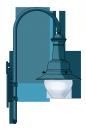 Bahnhof  pásztorbot lámpakar <br />(KA-06-400)