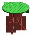 Ágacska  asztal <br />(AS-05)